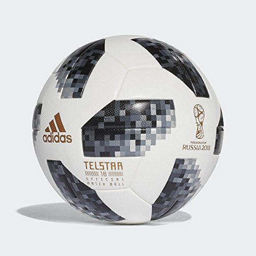 Official Ball Soccer White (Adidas World Cup 2018 Omb Soccer Ball Pro White/Black)