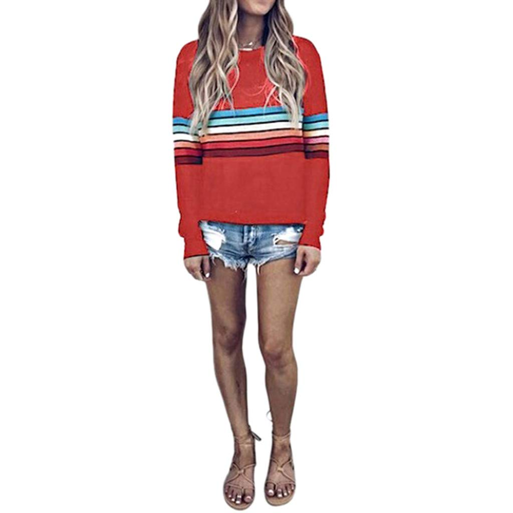 Respctfu ✶ Women Plus Size Tops for Women, Ladies Sleeve Plaid Patchwork Long Top Asymmetrical Hem Shirt Casual Shirt Hot Pink