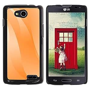 Paccase / SLIM PC / Aliminium Casa Carcasa Funda Case Cover para - Wavy Lines Orange Pastel White - LG OPTIMUS L90 / D415