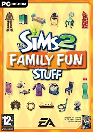 The Sims 2 Family Fun Stuff PC CD Expansion Pack Hungarian Cover 100