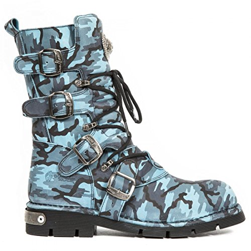 New Rock Boots M.1473-s44 Gotico Hardrock Punk Unisex Stiefel Blau