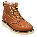 EVER BOOTS ''Weldor Men's Moc Toe Construction Work Boots Wedge Soft Toe (10.5 D(M), Brown)