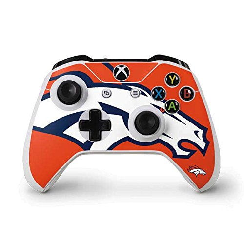 Skinit Denver Broncos Large Logo Xbox One S Controller Skin - Officially Licensed NFL Gaming Decal - Ultra Thin, Lightweight Vinyl Decal Protection