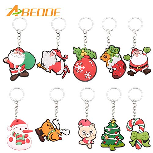 (S Christmas - Abedoe 1pc S Key Chain Ring Silicone Santa Claus Tree Socks Snowman Keychains Keyrings - Glass Evil Orange Accessories Jump Nurses Lighters Door Verse Magnifying Tool Organ)