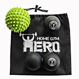Home Gym Hero Massage Balls Set Of 3 with User Guide | Spiky, Smooth & ...