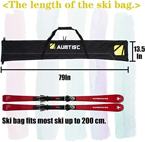 SOWLAND Ski-Boot-Bag Combo Padded Snow Boot Bags Store Ski Poles and Helmet Excellent for Travel