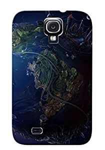 New Style Tpu S4 Protective Case Cover/ Galaxy Case - Fantasy 3d Art Of The Future Earth