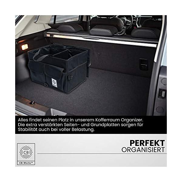51aDAgEA7 L CB-WORKS Kofferraum Organizer Faltbare Auto Tasche, rutschfest mit Klett & extra Spanngurte, Zubehör Aufbewahrung…