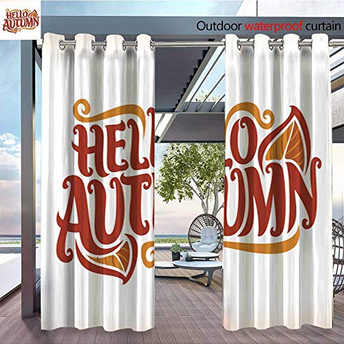 QianHe Outdoor Blackout Curtains Vector-Poster-for-Autumn-Season.jpg Outdoor Privacy Porch