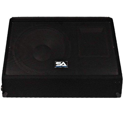 Seismic Audio - 12 Inch 250 Watts Floor Monitors Studio, Stage, or Floor use - PA/DJ Speakers - Bar, Band, Karaoke, Church, Drummer use