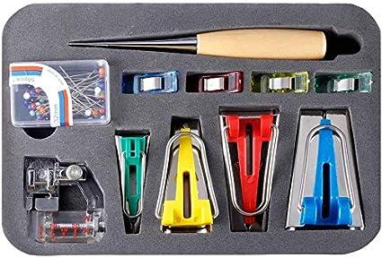 1//4 1//2 3//4 1 Fabric Bias Tape Maker Tools 4 Sizes DIY Sewing Bias Tape Makers for Quilt Binding ALOVEWE Bias Tape Maker Tool Kit Set 6MM//12MM//18MM//25MM