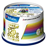 Mitsubishi Chemical Media Verbatim DVD-r CPRM 1 modified for recording 120 minutes 1-16 x 50 spindle case Pack wide print compatible WhiteLabel VHR12JP50V4