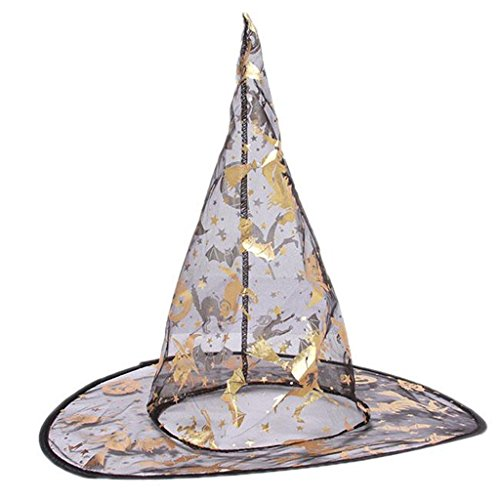 GUAngqi Chic Sequin Sparkle Witch Hat Halloween Costume Accessories Cap (Black Sequin Witch Costume)