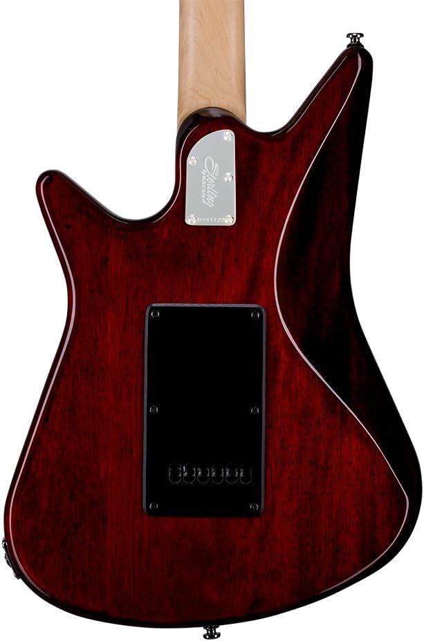 Trans Walnut AL40-TW-R1 Sterling By MusicMan 6 String Solid-Body Electric Guitar Right