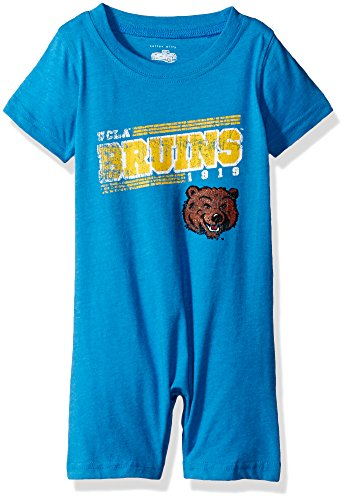 Cotton Willy NCAA UCLA Bruins Children Boys Infant Short Sleeve Romper,6M,UC Blue Blend ()