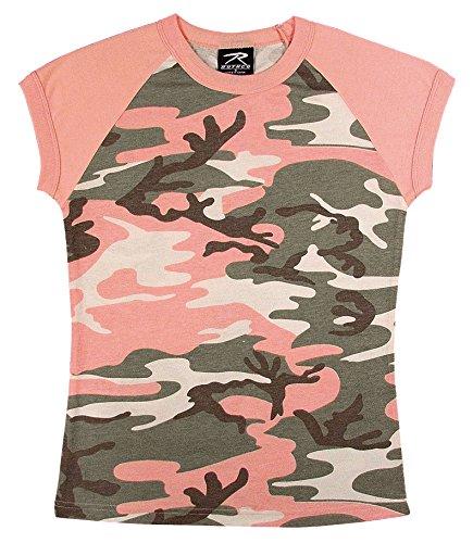 (Rothco Womens Raglan T-Shirt - Subdued Pink Camo, Small )