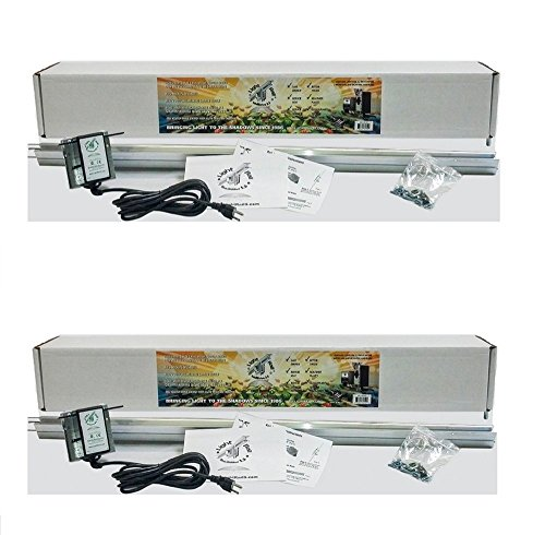 Light Rail (2) 3.5 IntelliDrive Kits Motor with Rail, Robotic Grow Light Mover Genuine Solidly Made in USA