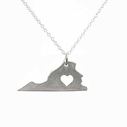 .com: sterling silver virginia necklace: handmade