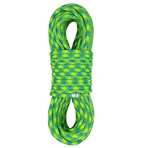 Xben 10.5 mm Dynamic Climbing Rope 45M(150ft), Safety Nylon Kernmantle Rope for Rock Climbing, Tree Climbing, Ice Climbing, Mountaineering, Rappelling, Rescue and Arborist Climbing ()