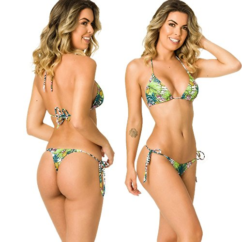 COQUETA Swimwear Women Brazilian Sexy Bikini Bottom Thong Triangle Top Set - Kings Hawaii Shops