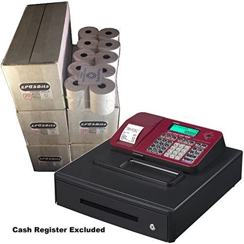 eposbits® marca rollos para que se ajuste a Casio se-s100 SES100 SES se S100 100 rojo caja registradora grande Draw – 100 rollos: Amazon.es: Oficina y papelería
