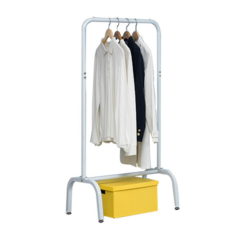 JIANFEI Floor Standing Coat Rack Hat Stand Hanger Easy Clothes Rack Large Capacity 4 Thighs, Metal (Color : White-#1, Size : 100.540153.5cm)