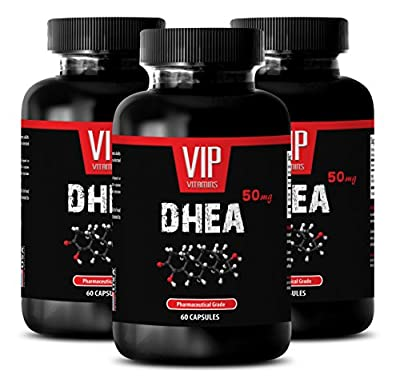 Lowers Inflammation - DHEA 50 mg - Anti inflammatory supplement - 3 Bottles 180 Capsules