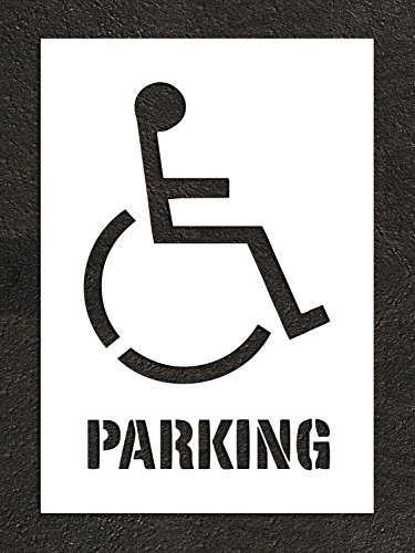 HANDICAP Paint Stencil with PARKING words - ADA Paint Ste...