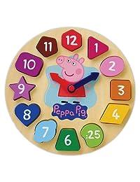 Peppa Pig Wood Puzzle Clock