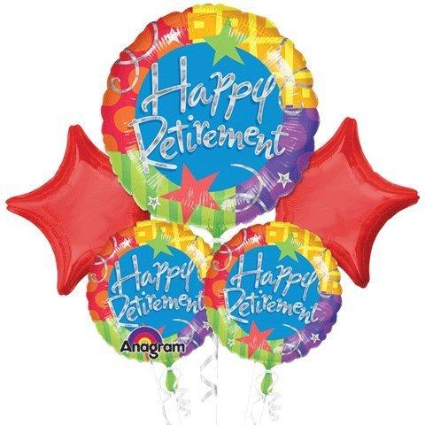 Happy Retirement Stars Bouquet Of Balloons -