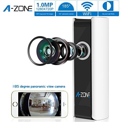 A-ZONE Mini Wireless Camera 185 Degree Baby Monitor HD WiFi