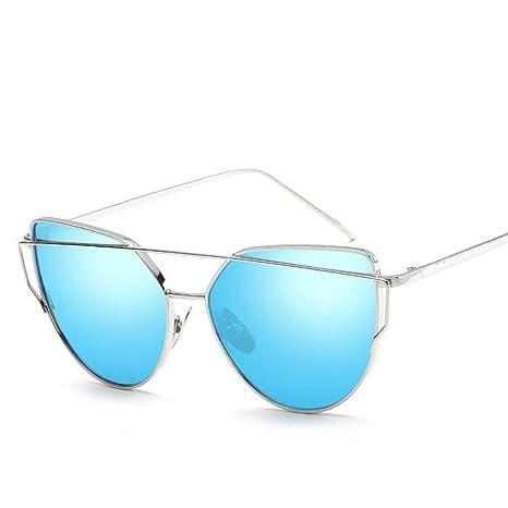 FUZHISI Gafas de Sol Gafas de Sol Mujer Ojo Espejo Rose New ...