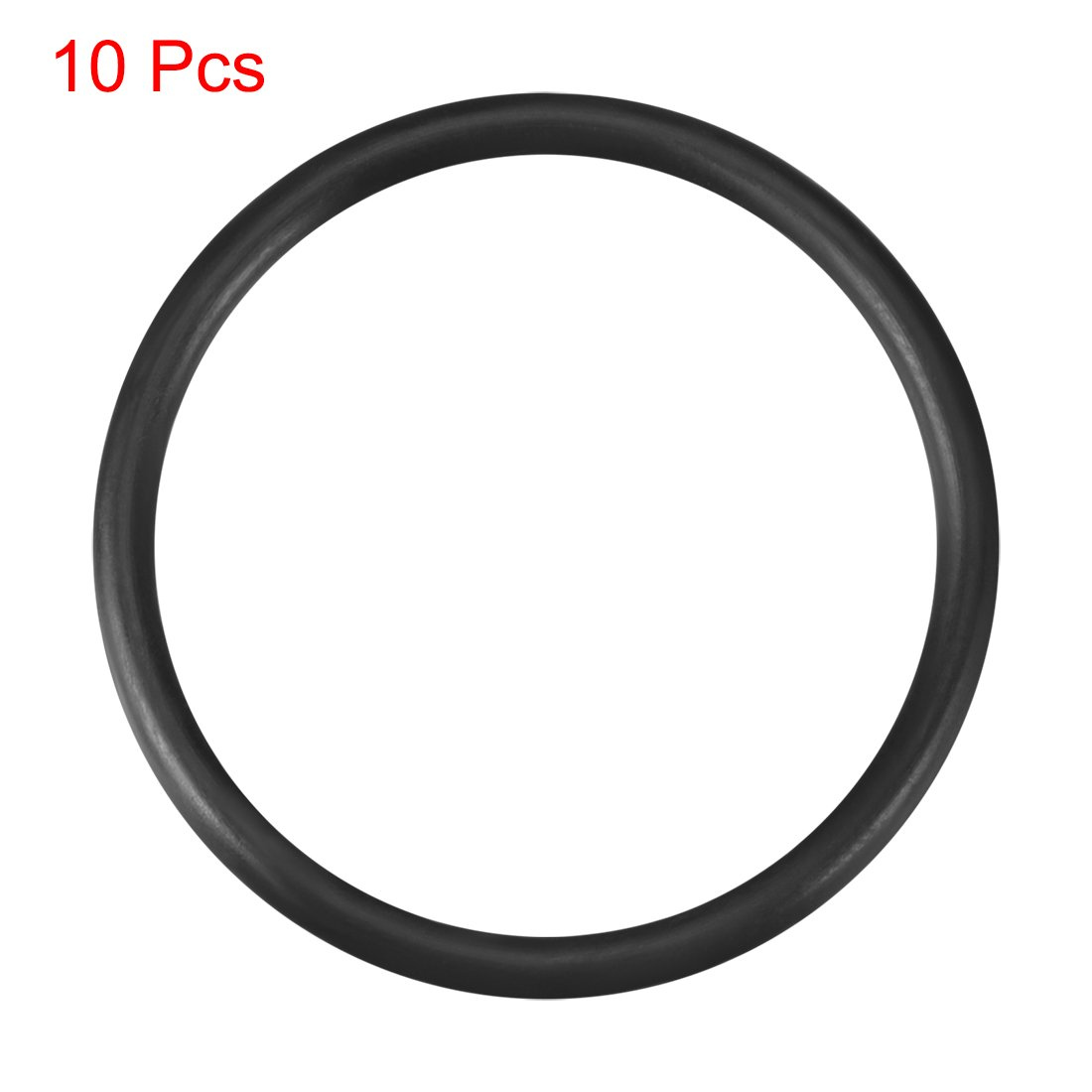 Othmro 10.5mmx6.9mmx1.8mm Black Nitrile Rubber(NBR) Sealing NBR O Rings Gaskets Washers Grommets 20pcs