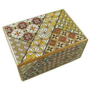 Open Japanese Puzzle Box - 4 Sun 10 Steps Japanese Puzzle Box