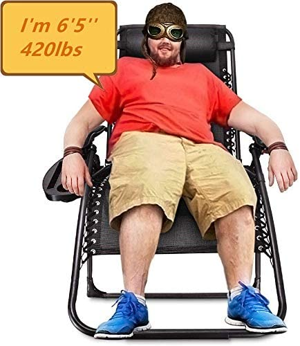 EzCheer 420 Pounds Oversized Zero Gravity Chair