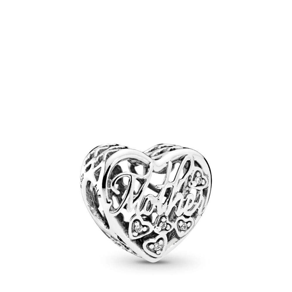PANDORA Mother & Son Bond Charm, Sterling Silver, Clear Cubic Zirconia, One  Size