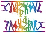 Easy Stick 2 Piece Multicolor Dance Fever - Vinyl Wall Art Decals