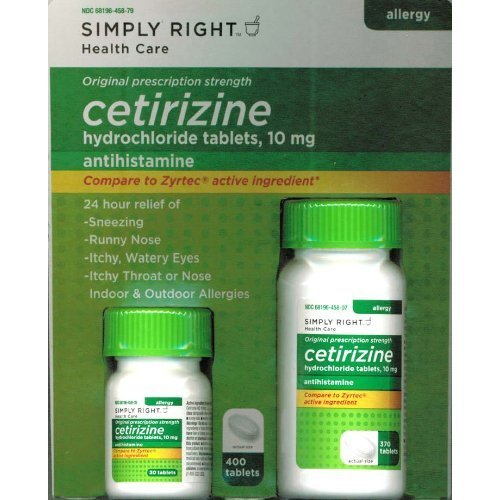 Simply Right Formerly Known As Members Mark Cetirizine Allergy Tablets, 400 Count
