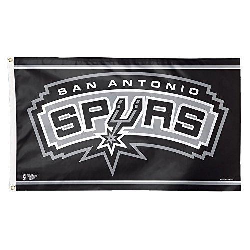 WinCraft NBA San Antonio Spurs Deluxe Flag, 3 x 5', Multicolor by WinCraft