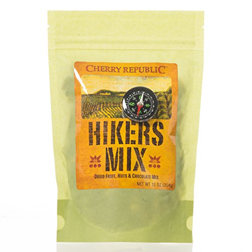 Cherry Republic Hiker's Mix Cherry Nut Mix - Nutrition-rich Trail Mix Featuring Dried Cherries, Cranberries & Apricots with Roasted Peanuts & Brazil Nuts - High-energy Snack Mix - 12 Ounces (Michigan Gift Baskets Michigan Products)