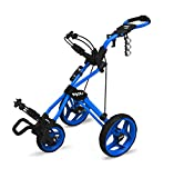 Clicgear Rovic Model RV3J Junior | Youth 3-Wheel Golf Push Cart (Blue)