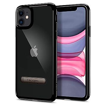 【Spigen】 iPhone 11 ケース 6.1インチ 対応 スタンド付き キックスタンド 背面 クリア 米軍MIL規格取得 ウルトラ・ハイブリッド S 076CS27434 (ジェット・ブラック)
