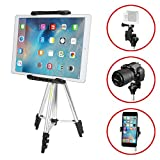 iKross 41-inch Portable Light weight Tripod with Adapters for Gopro HERO, Apple iPhone, iPad, Samsung Smartphone, Tablet, Digital Camera and more
