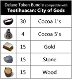 Deluxe Token Bundle Compatible with Teotihuacan (Set of 79)