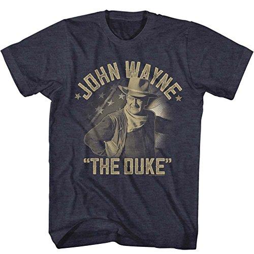 John Wayne - Mens Jw The Duke T-Shirt, Size: Large, Color: Navy Heather (John Wayne Size)