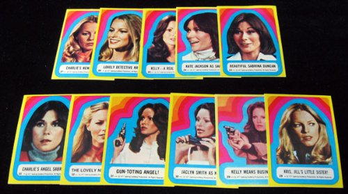 1977 Topps Charlie's Angels Series 3 Sticker Card Set (11) NM/MT