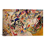 Museum quality Composition VII By Wassily Kandinsky Canvas Print. The art piece comes gallery wrapped, ready for wall hanging with no additional framing required. This print is also available in multi-piece or oversized formats, perfect for decoratin...