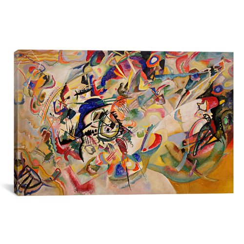 iCanvasART Composition VII Canvas Art Print by Wassily Kandinsky, 18 by 12-Inch