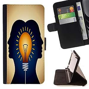 King Case - FOR Sony Xperia Z1 L39 - there is a way - Prima caja de la PU billetera de cuero con ranuras para tarjetas, efectivo Compartimiento desmontable y correa para la mu?eca
