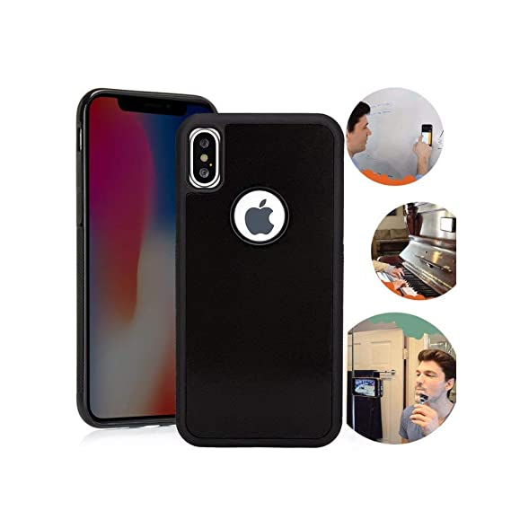sale retailer 69c95 744ff Wingcases for iPhone X/Xs Case, Anti Gravity Case Magic Nano Sticky Case  for iPhone 10 iPhone X/Xs Suction Stick on The Mirror Screen Window Wall ...